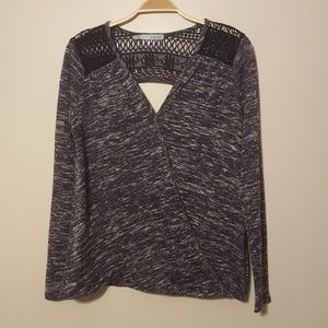 Maurices sweater small blue heathered